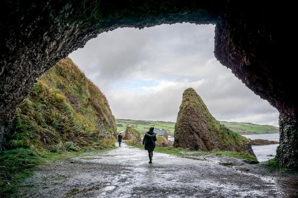 Cushendun Caves exit in UK