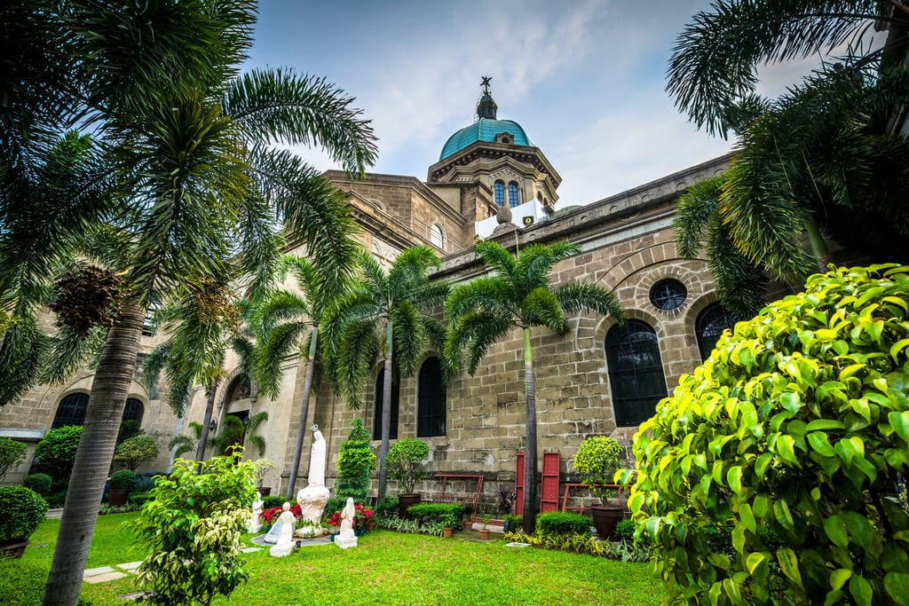 The walled city of Intramuros, Manila