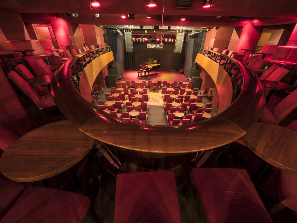 Interior of the Porgy & Bess Jazz Club