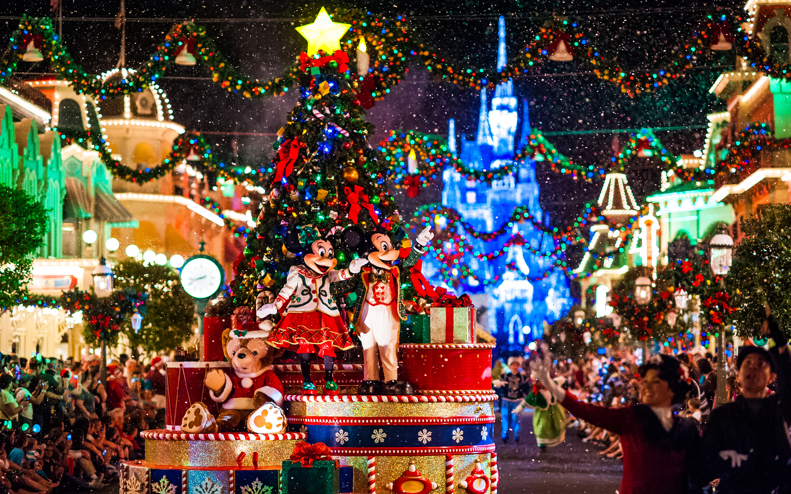 Christmas parade at Walt Disney World Resort, Florida