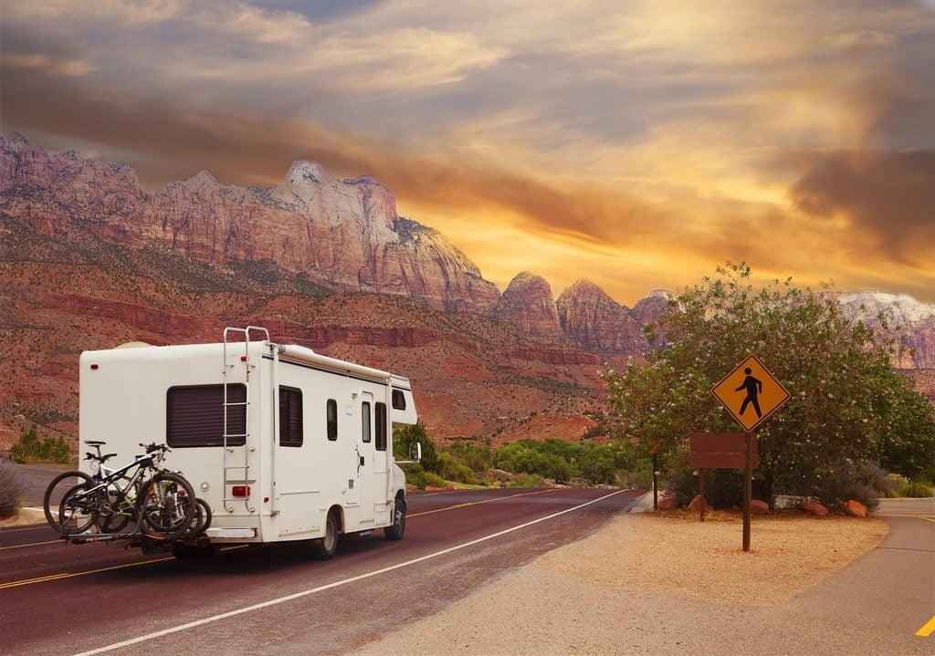 Camper Road Trip in the Desert
