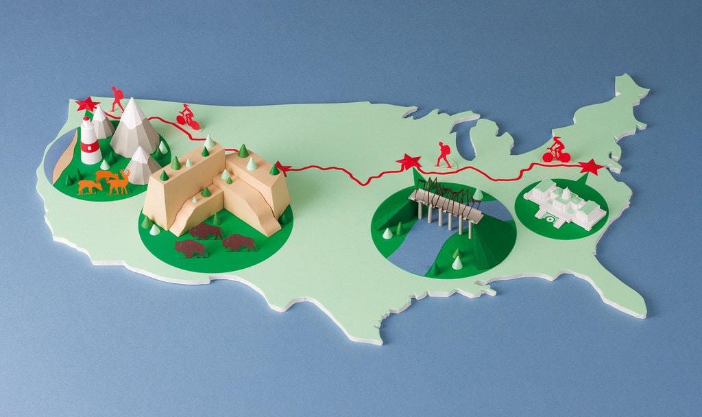 The Great American Rail-Trail mini 3D model