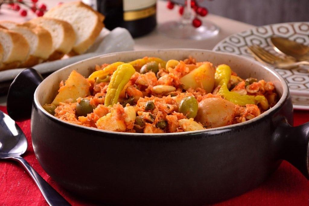 Bacalao a la vizcaína (Biscay-style cod) - Mexico Christmas Dish