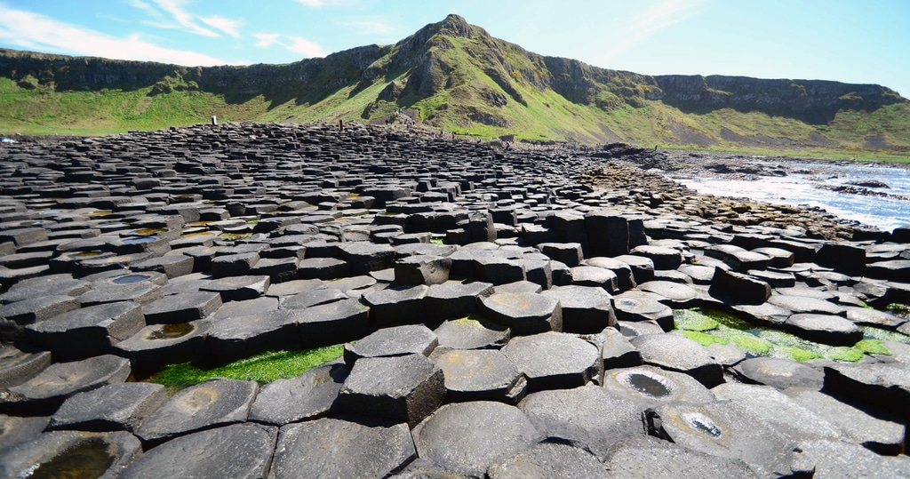 Giant's Causeway and sea shore in Dublin