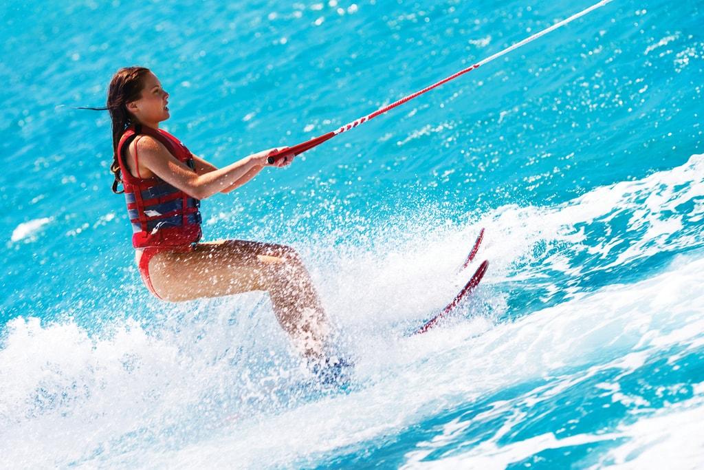 Water Skiing in Formentera