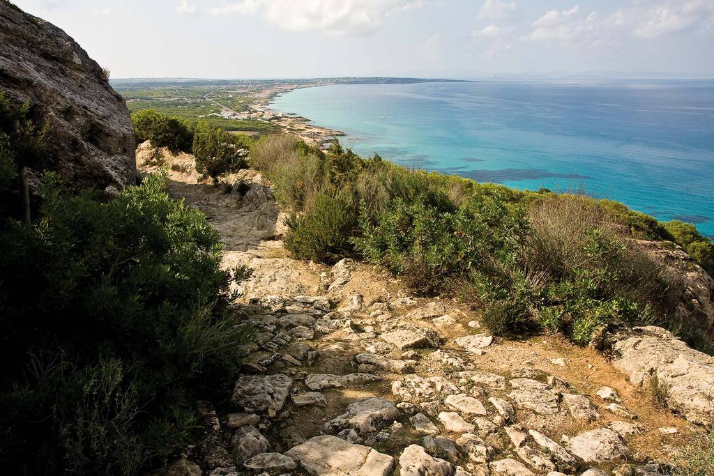 One of the green routes of Formentera