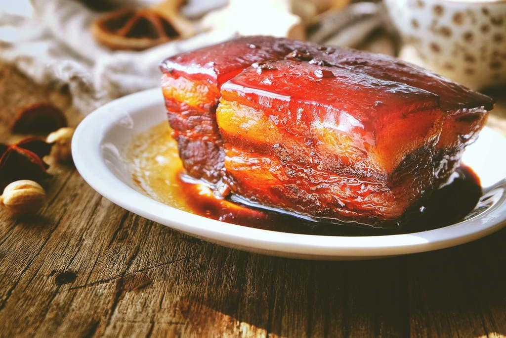 Plated Hangzhou Braised Pork Belly
