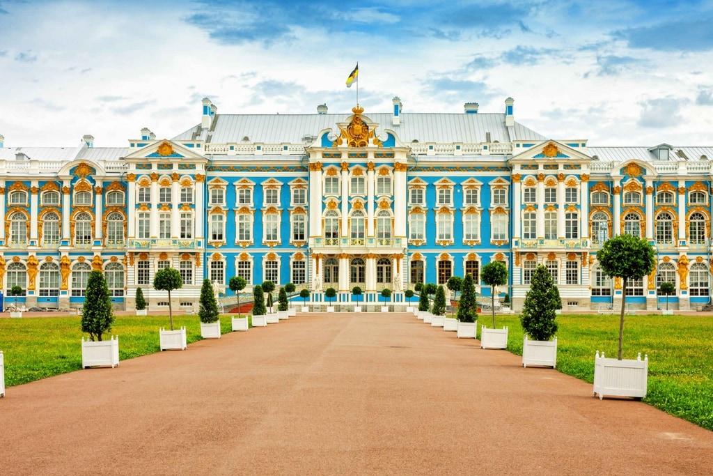 Catherine Palace in Tsarskoya Selo near Saint Petersburg.
